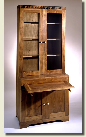 Bespoke bookcase / secretaire in American Walnut