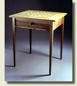 Shaker side table by cabinet makers Dimension Furniture